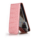 Bumper Case Apple iPhone 5 Pelle - Rosa