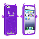 Custodia Apple iPhone 5 Silicone Diavolo - Porpora