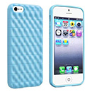 Custodia Apple iPhone 5 Silicone Onda - Luce Blu