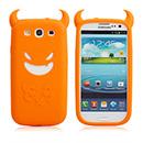 Custodia Samsung Galaxy S III i9300 Silicone Diavolo - Arancione